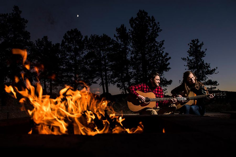 17-Colorado-Mountain-Engagement-Bride-and-Groom-Playing-Guitar